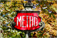 Foam board print  Metro sign in Paris, France