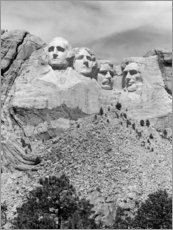 Aluminium print  Mount Rushmore in South Dakota