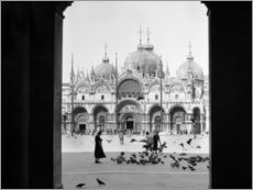 Aluminium print  View through the portal of St. Mark's Cathedral in Venice