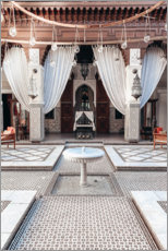 Premium poster Courtyard in Marrakech