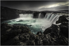 Premium poster  Godafoss waterfall in Iceland - Christian Möhrle