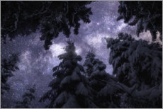 Premium poster  Winter night under the Milky Way - Christian Möhrle