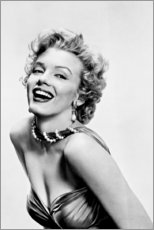 Canvas print  Marilyn Monroe - Smiling - Celebrity Collection