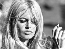 Wood print  Brigitte Bardot - blown away - Celebrity Collection