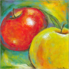 Premium poster  Abstract Fruits - Apple IV - Chariklia Zarris