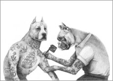 Canvas print  The Tattooist - Mike Koubou