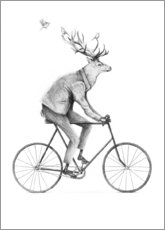 Aluminium print  Even a Gentleman rides a bike - Mike Koubou
