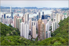 Wood  Hong Kong cityscape - Jan Christopher Becke