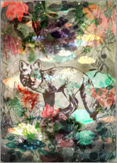 Acrylic print  Fox and peonies - Ella Tjader