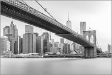 Canvas print  Brooklyn Bridge - nitrogenic