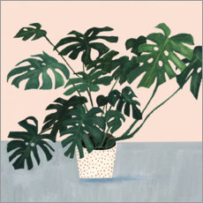 Premium poster  Monstera in spotted pot - Victoria Borges