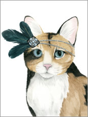 Wood print  Cat of Downton I - Grace Popp