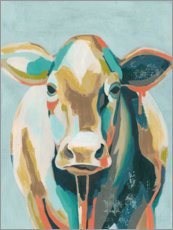 Canvas print  Colorful cow II - Grace Popp
