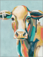 Foam board print  Colorful cow i - Grace Popp