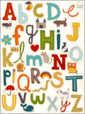 Aluminium print  Letters of the Alphabet - June Vess
