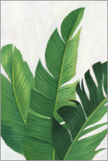 Foam board print  Palm leaf study - Grace Popp