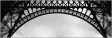 Acrylic print  Vaults of the Eiffel Tower