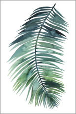 Aluminium print  Palm leaf watercolor II - Grace Popp