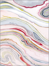 Wood print  Watercolor marbling II - Grace Popp