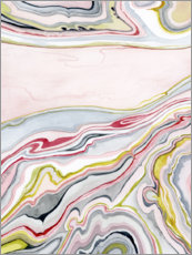 Wall sticker  Watercolor marbling I - Grace Popp
