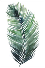 Canvas print  Palm leaf watercolor I - Grace Popp