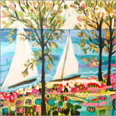 Aluminium print  Nautical Whimsy IV - Karen Fields
