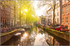 Wall sticker  Sunrise in the Amsterdam canals - George Pachantouris
