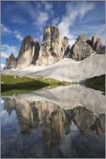 Acrylic print  The Three Peaks in the Dolomites - Tobias Richter