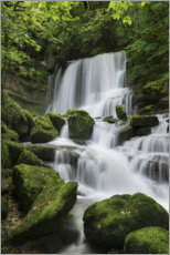 Premium poster  Waterfall on the rock slope, France - Tobias Richter