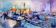 Canvas print  Cityscape of Leipzig - Johann Pickl