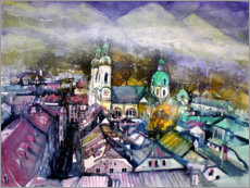 Premium poster View to Innsbruck Cathedral