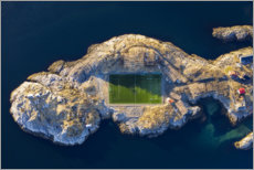 Canvas print  Soccer field Henningsvær in Norway - Dieter Meyrl