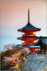 Canvas print  Kiyomizudera Temple in Kyoto, Japan - Matteo Colombo