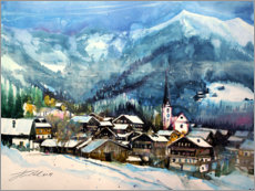 Acrylic print  Alpbach in winter, Tyrol - Johann Pickl