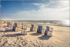 Premium poster  Beach chairs in the sunset, Sylt - Christian Müringer