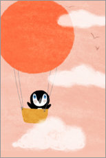 Canvas print  Penguin dream - Julia Reyelt