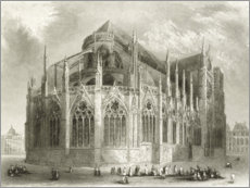Gallery print  Notre Dame Cathedral, East End - Hablot Knight Browne