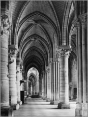 Acrylic print  Interior of Notre Dame cathedral