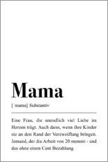 Premium poster  Mama Definition (German) - Pulse of Art