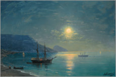 Aluminium print  Evening in the Crimea - Ivan Konstantinovich Aivazovsky
