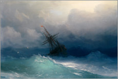 Aluminium print  Ship at heavy sea - Ivan Konstantinovich Aivazovsky