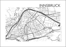 Premium poster  City map of Innsbruck - 44spaces