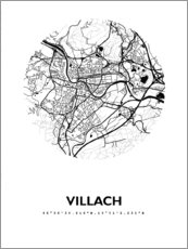 Acrylic print  Map of Villach - 44spaces