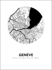 Wall sticker  City map of Geneva - 44spaces