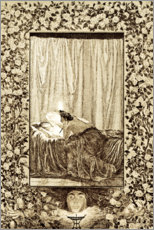 Wood print  Psyche with the lamp, sheet 19 of Cupid and Psyche - Max Klinger