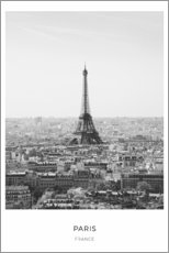 Premium poster  Eiffel tower in Paris - Art Couture