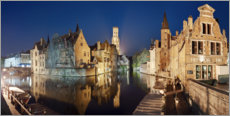 Wood print  The old town of Bruges - Tobias Richter