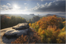 Premium poster  Saxon Switzerland in autumn - Tobias Richter