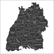Wall sticker  Counties of Baden Württemberg - Ingo Menhard