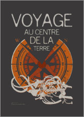 Premium poster Jules Verne's Journey to the Center of the Earth